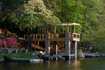 Stone Covered Dock