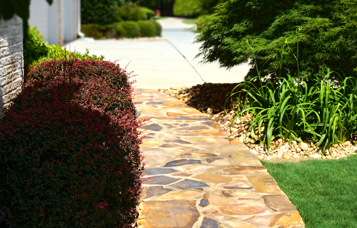Stone Walkway Ideas & Stone Wall Hardscape Inspiration