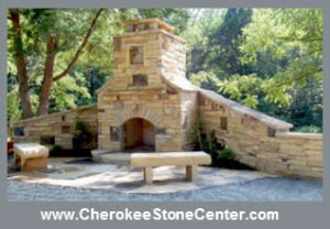 stone outdoor fireplace atlanta