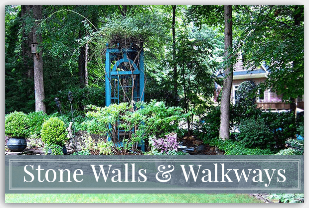 Stone Walkways & Walls Hardscape Ideas